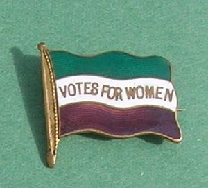 WSPU flag badge