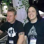 Rob Talbot with Moomin panellist, Alexander Dan Vilhjålmsson