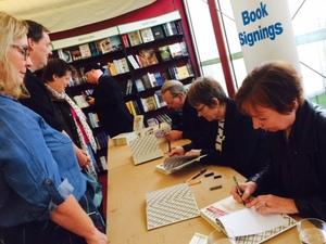 Sally signing @EIBF